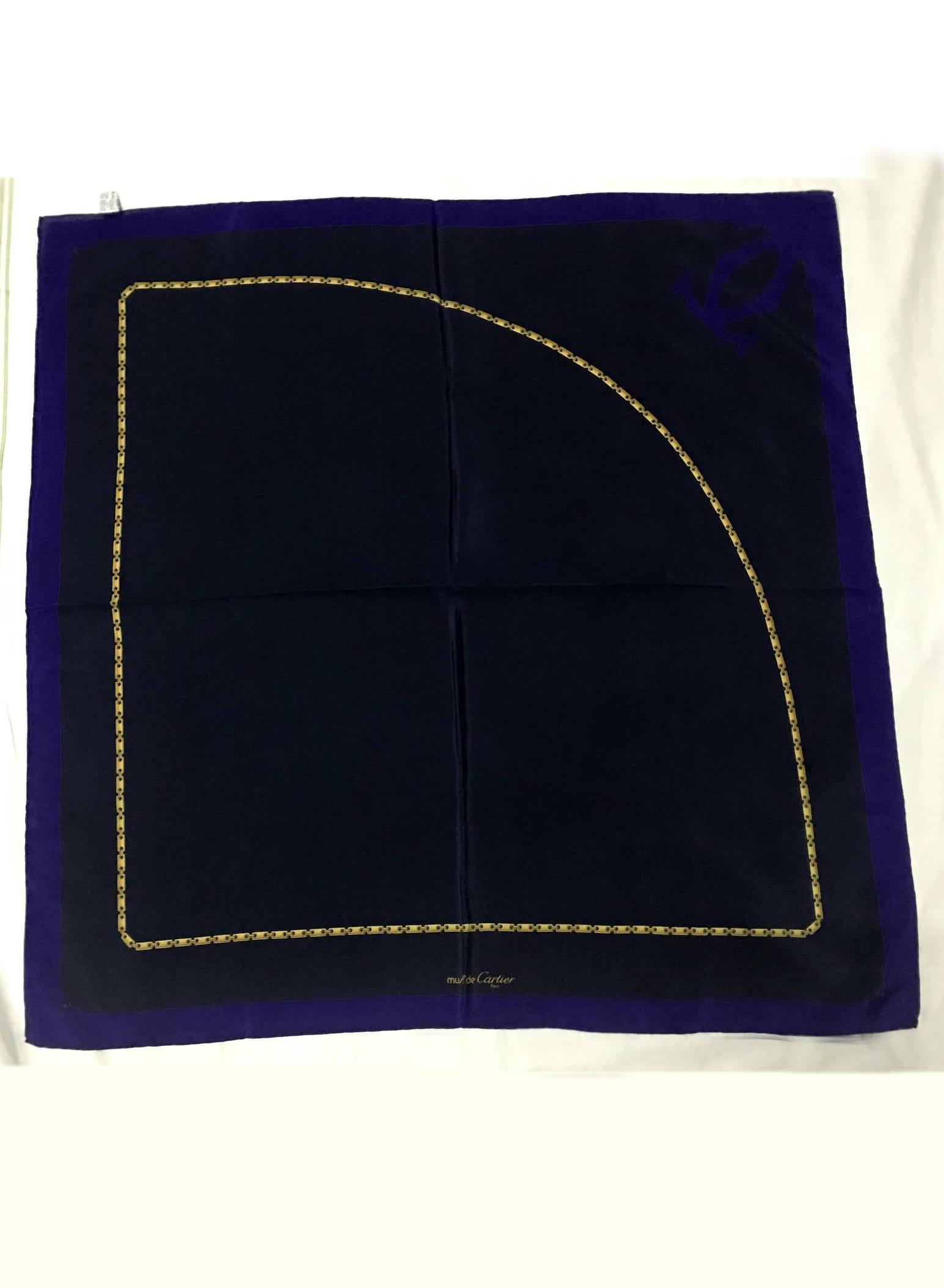 Must de Cartier- Authentic Rare Gorgeous silk scarf copy