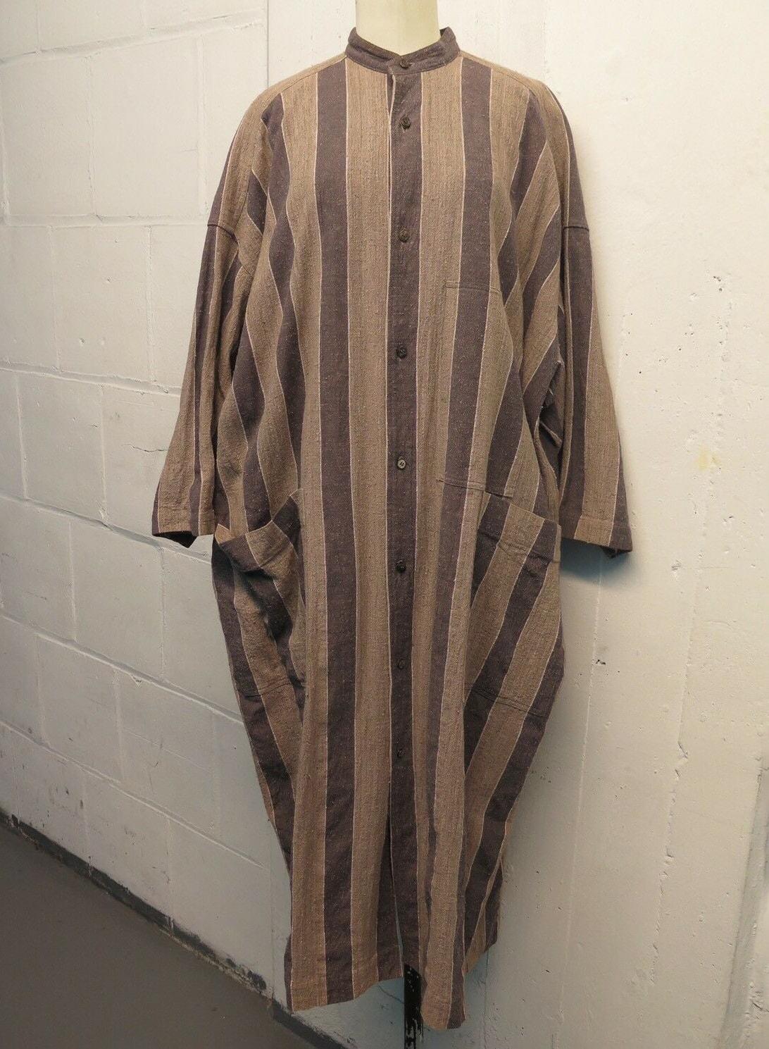 Plantation Issey Miyake Striped Duster Tunic Sz M
