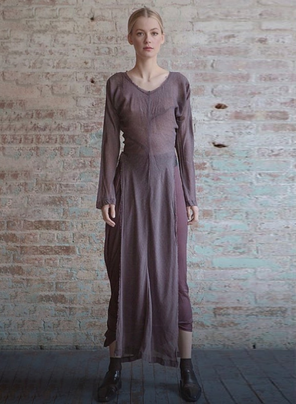 Rare 1993 COMME des GARÇONS Sheer Tunic Dress S