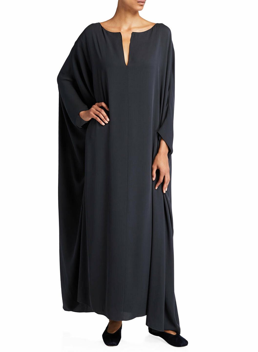 The Row Enrico Silk Georgette Kaftan Dress
