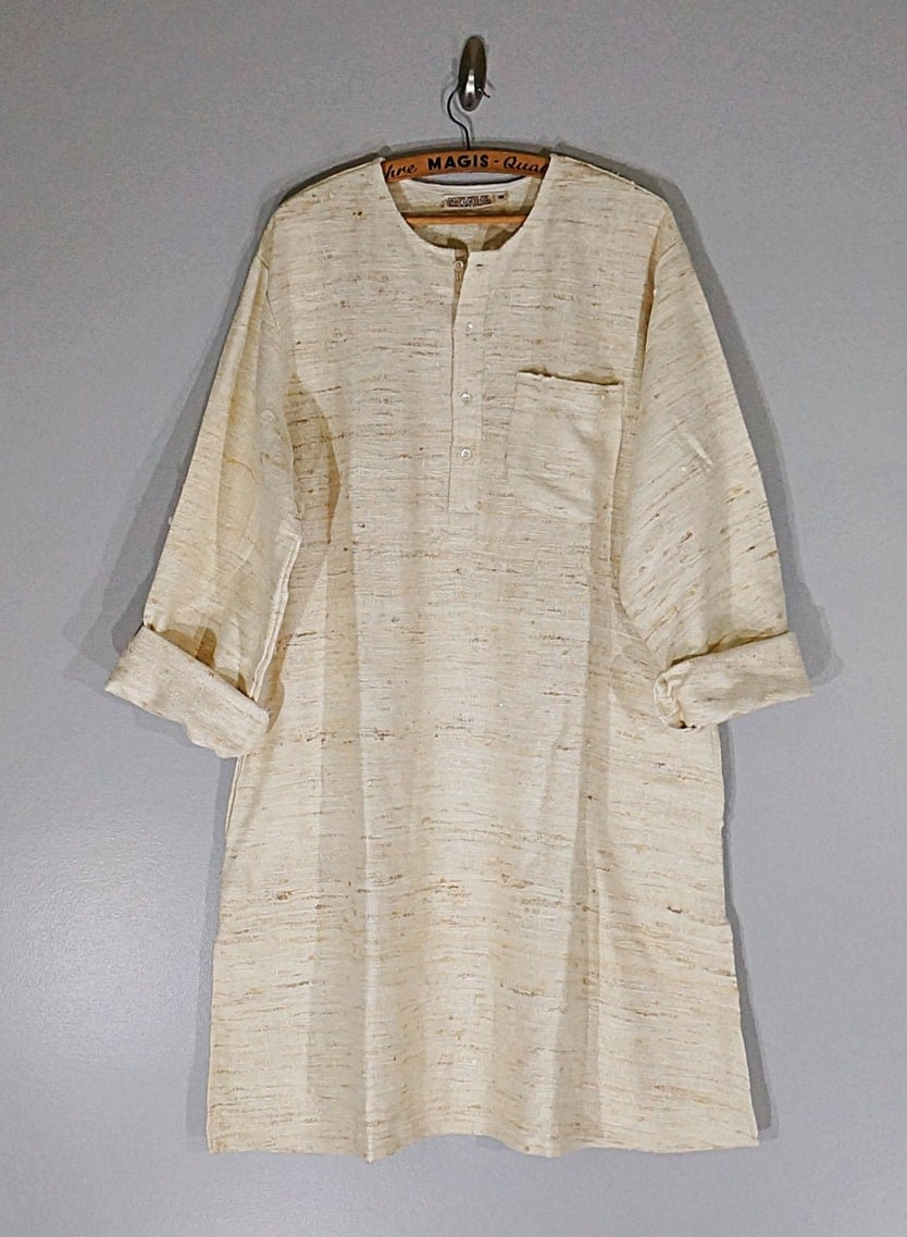 Vintage 60's 70's silk Indian woven tunic
