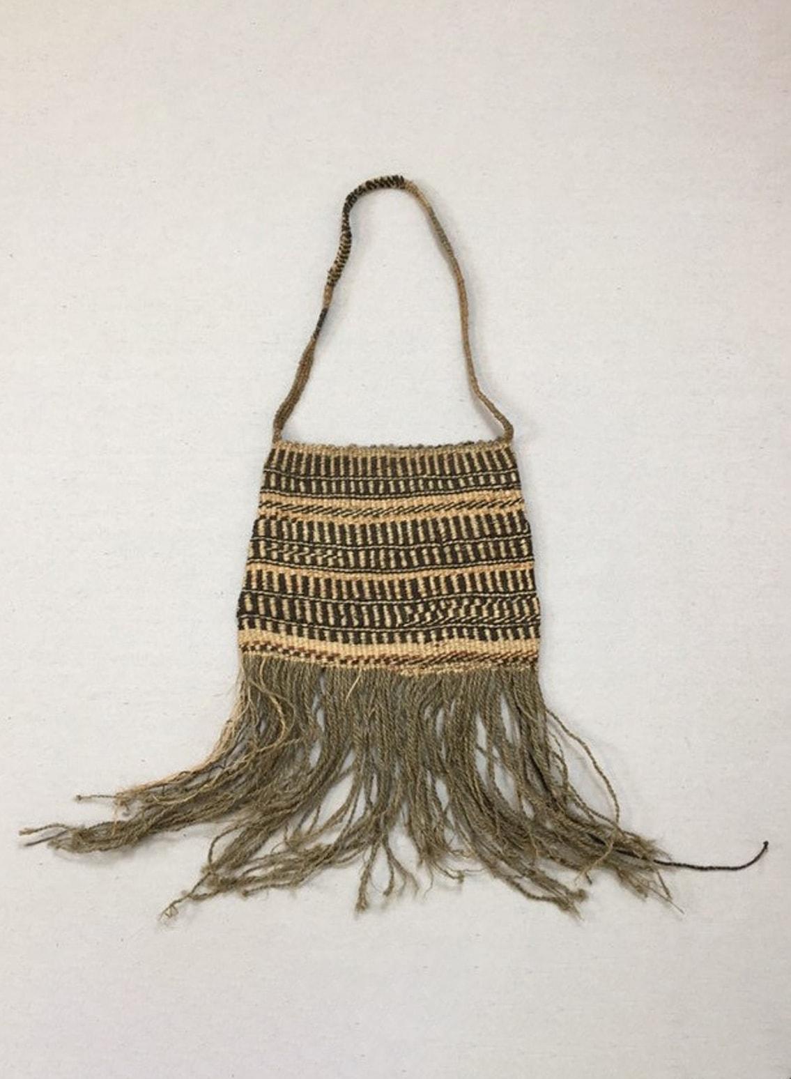 1990's, straw, fringe bag