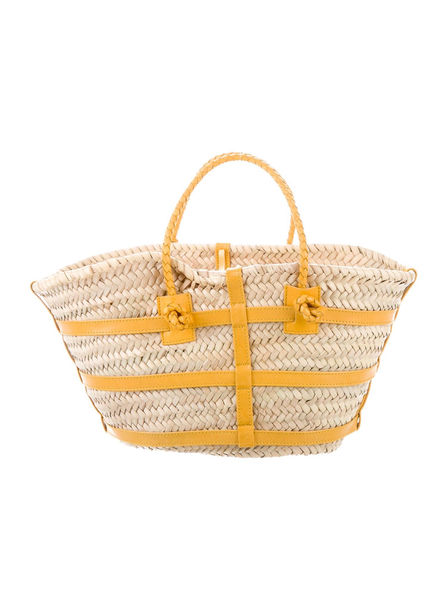 ALTUZARRA Straw Handle Bag