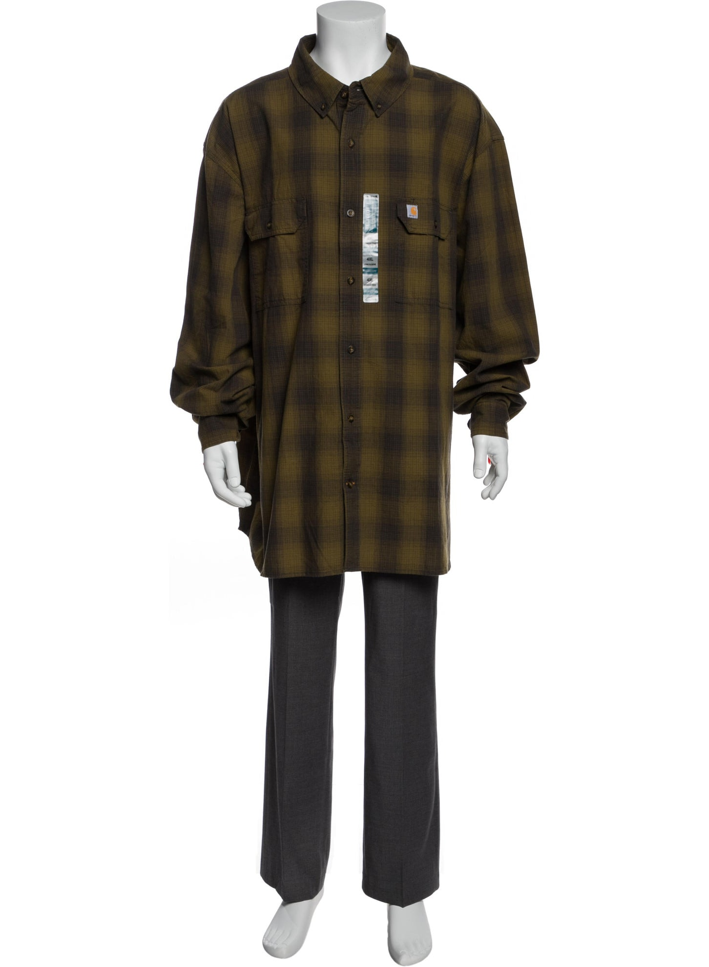 CARHARTT WORK IN PROGRESS Plaid Print Long Sleeve Shirt w: Tags