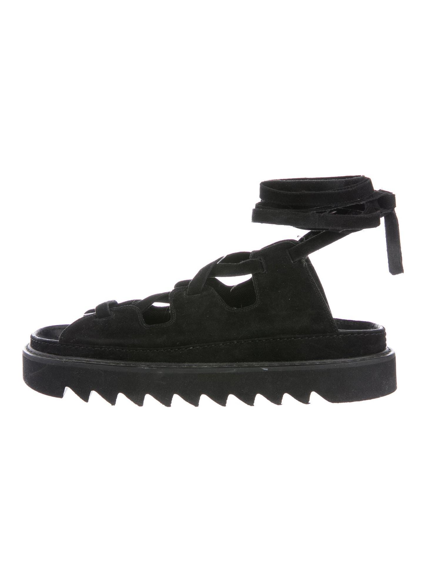 CELINE Suede Sandals