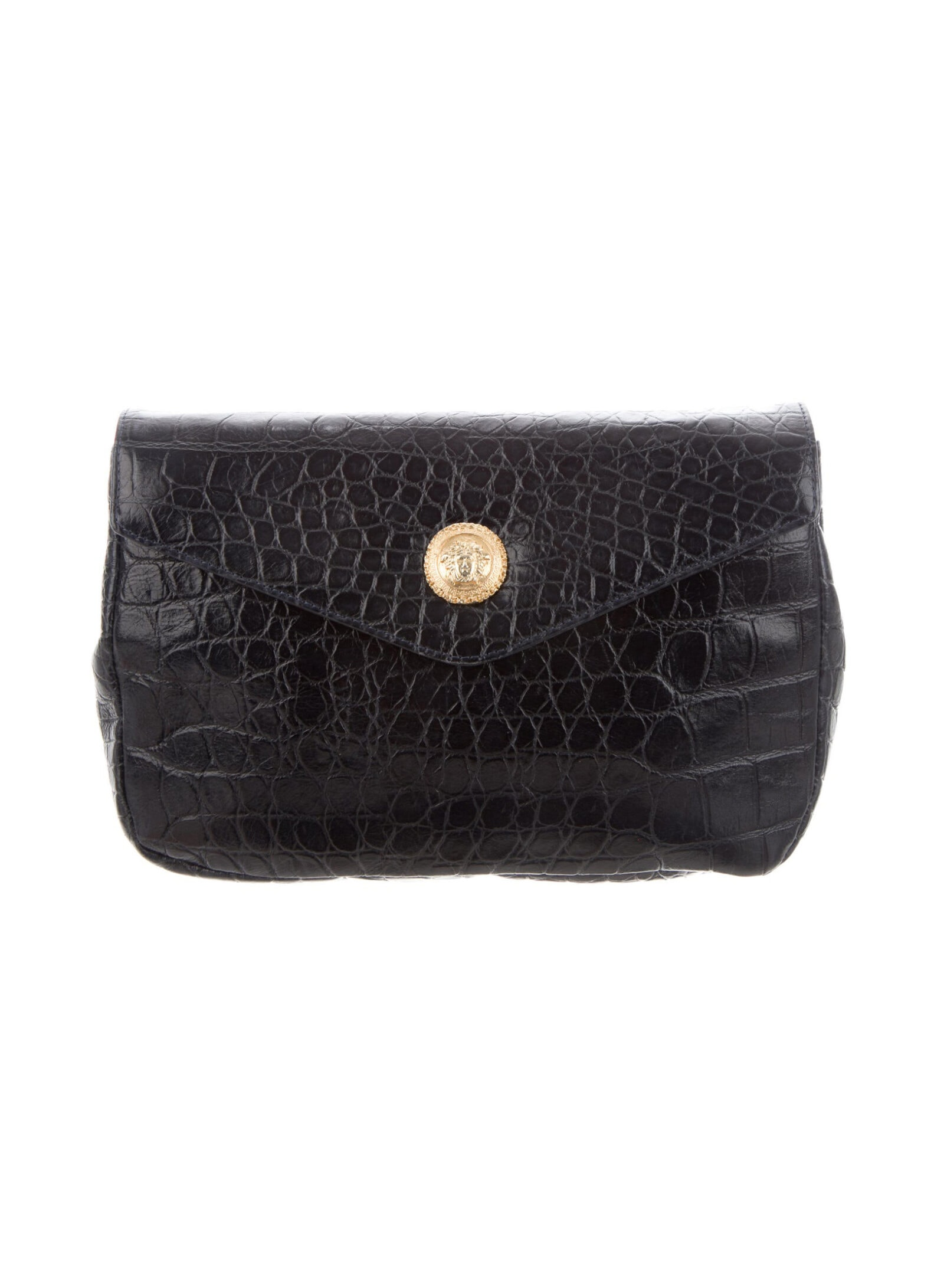 GIANNI VERSACE Embossed Leather Clutch