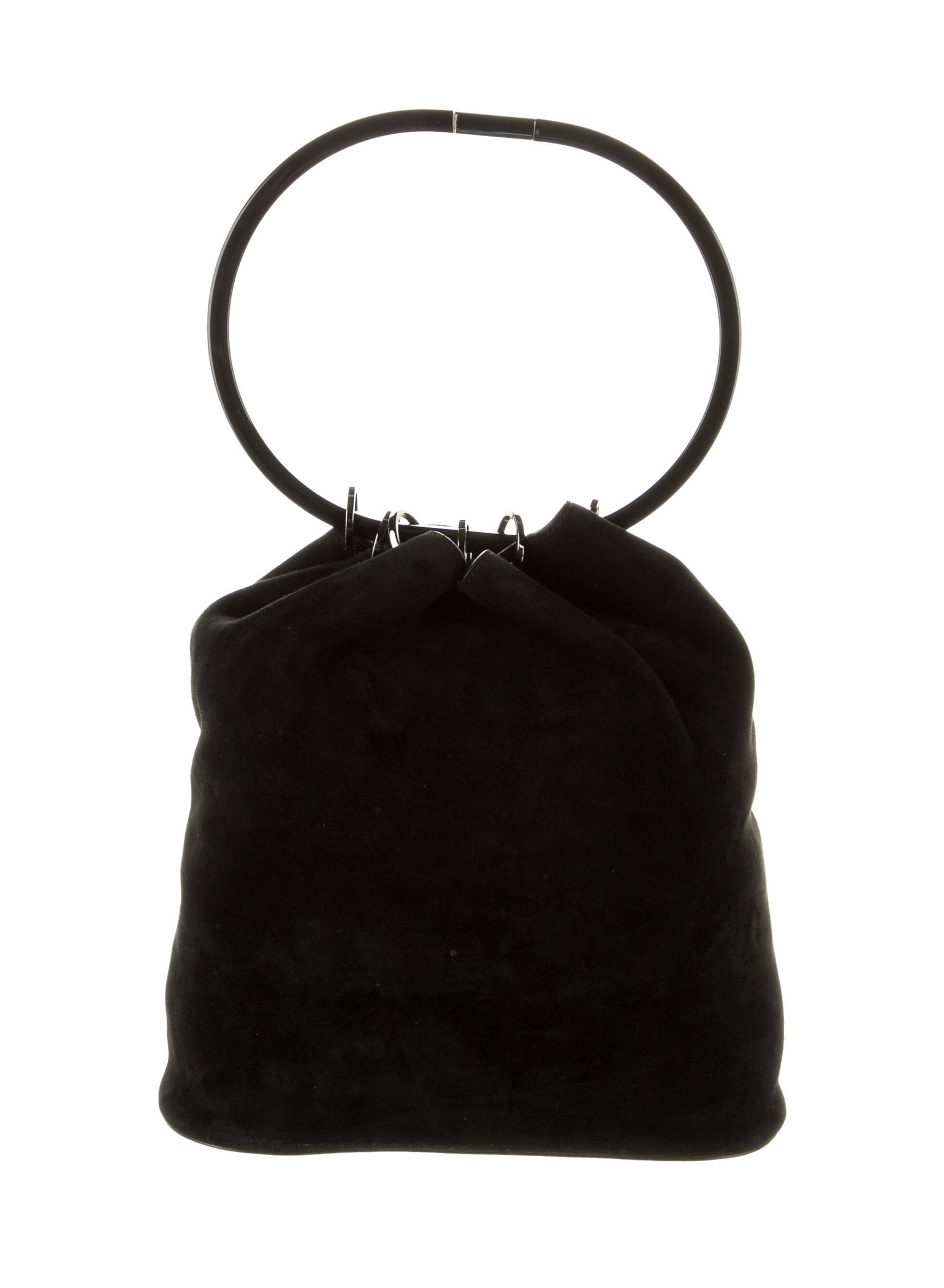 GUCCI Vintage Suede Ring Hobo