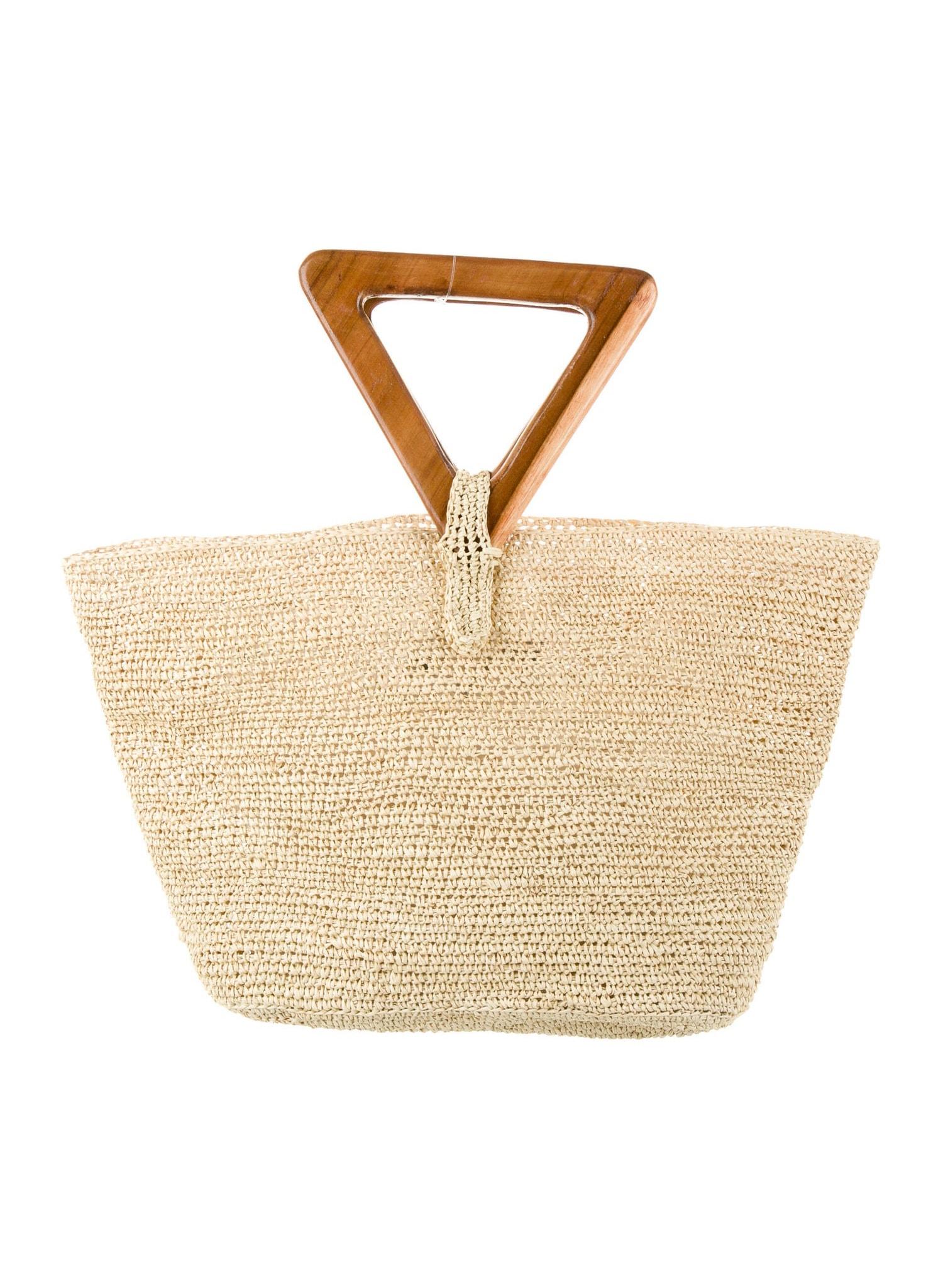 MARINA Woven Straw Handle Bag