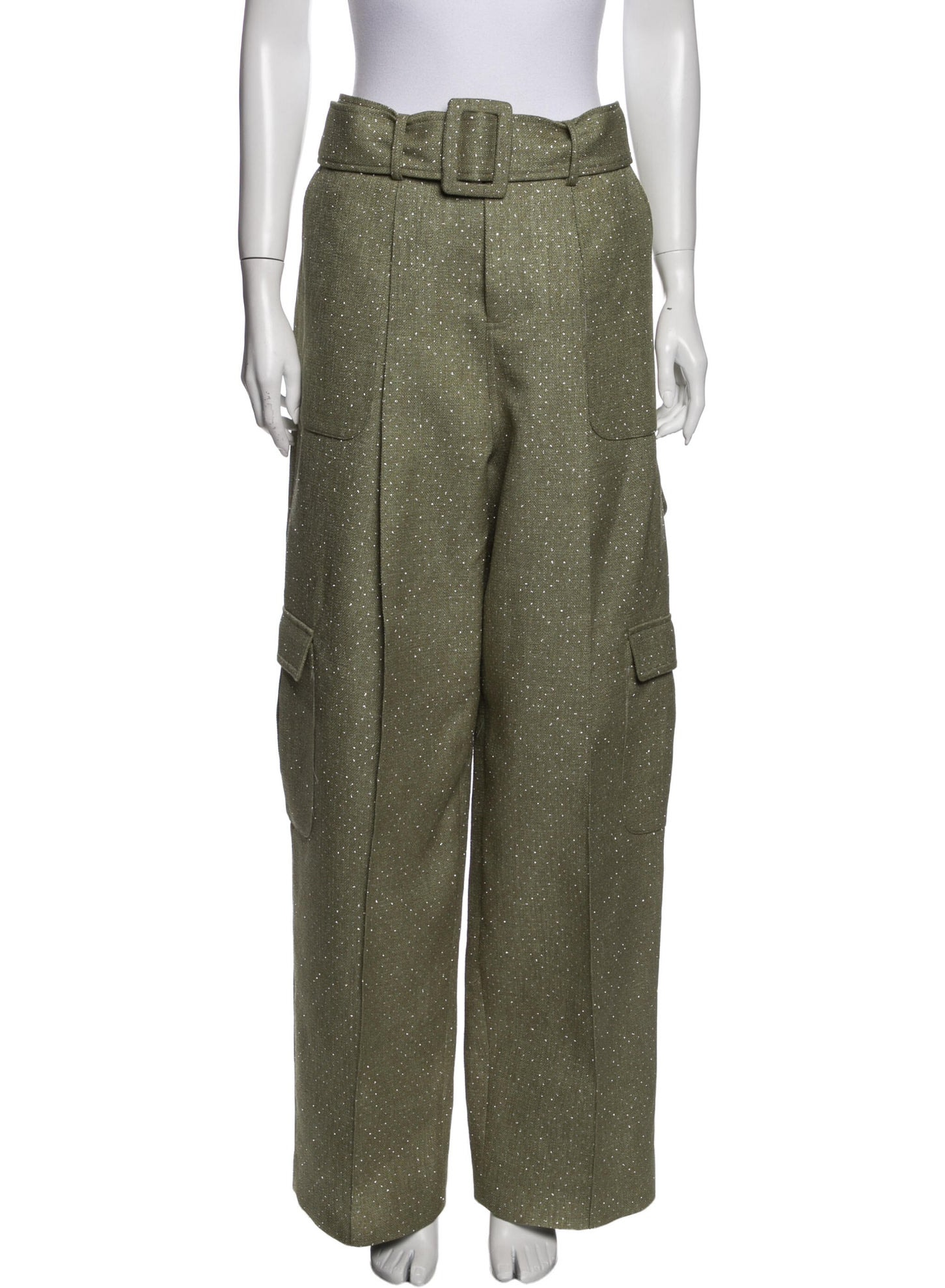 ROSIE ASSOULIN Tweed Pattern Wide Leg Pants w: Tags