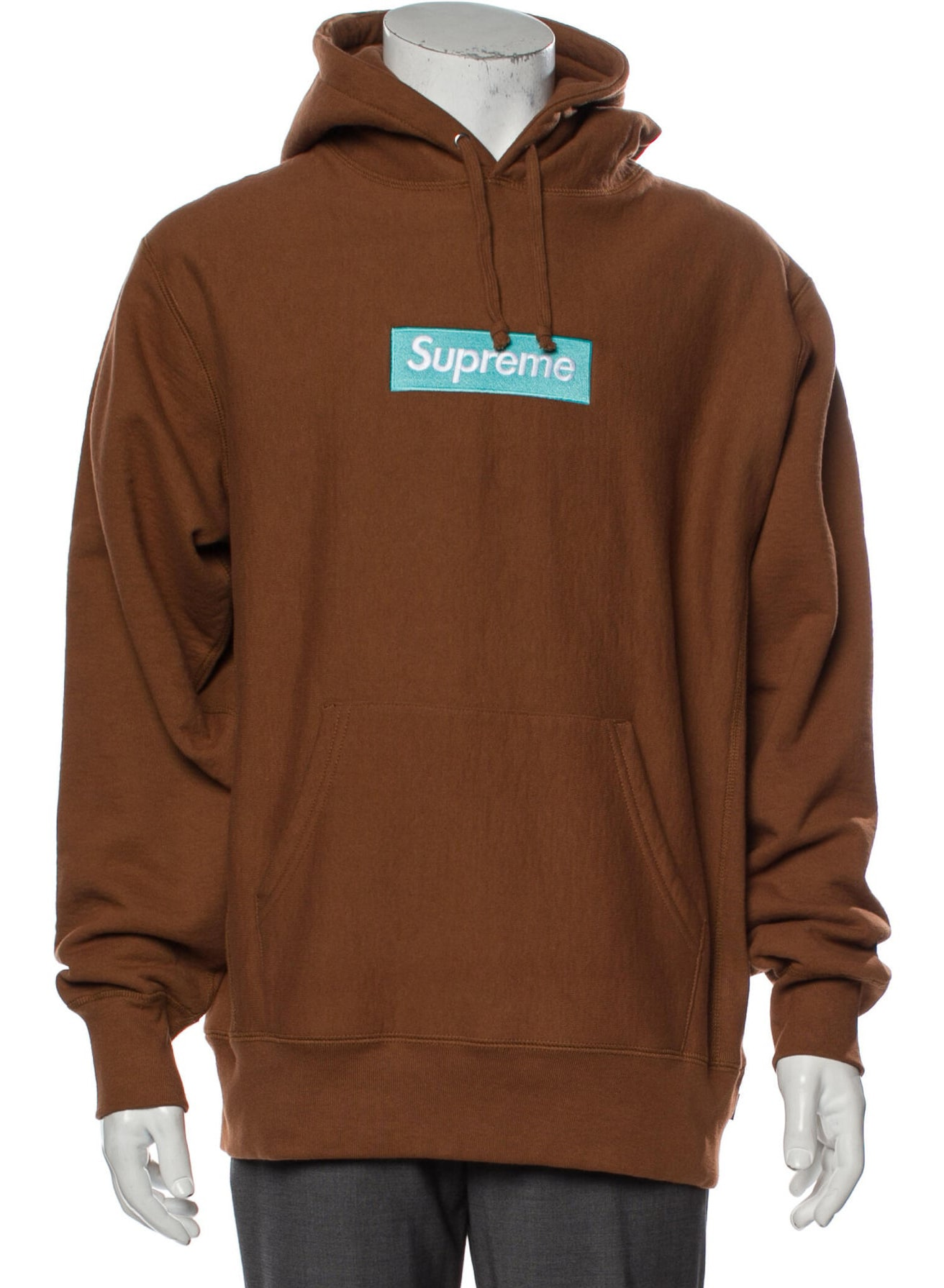 SUPREME 2017 Rust Box Logo Hoodie w: Tags