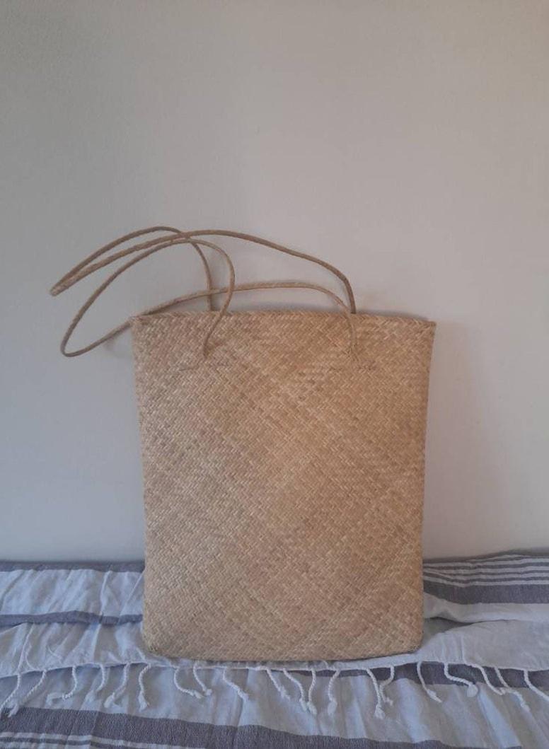 Straw Woven Bag, Straw Tote Bag, Beach Bag