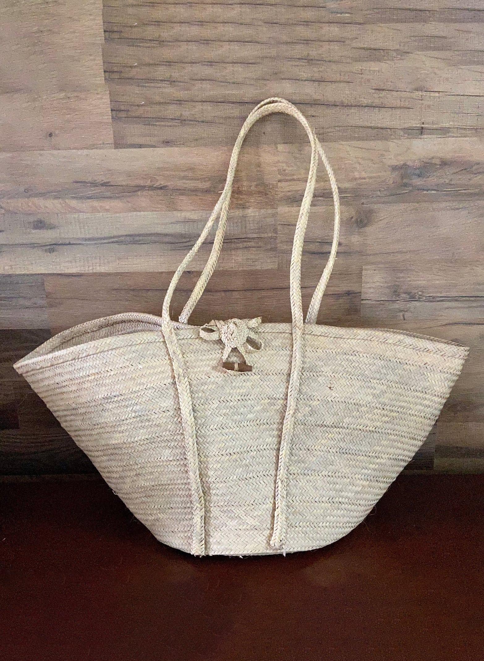 Vintage Handwoven Tote:Beach bag