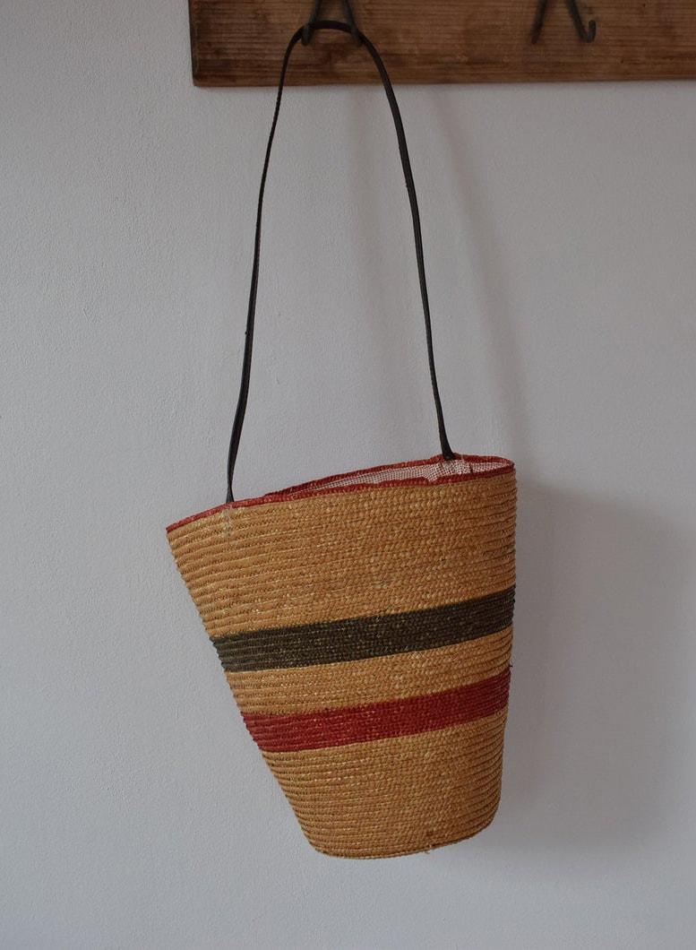 Vintage Woven Bucket Bag Shoulder Bag
