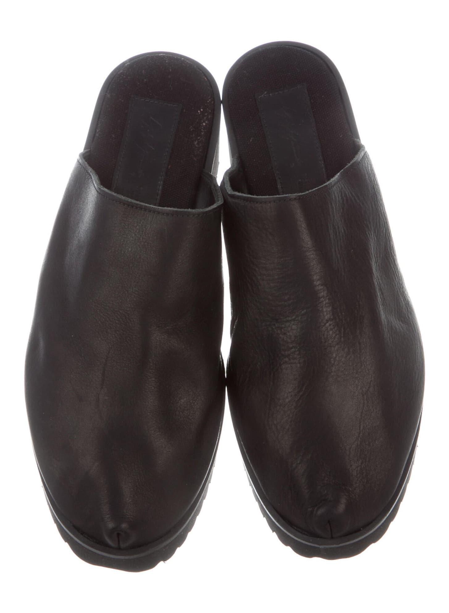 YOHJI YAMAMOTO Leather Mules