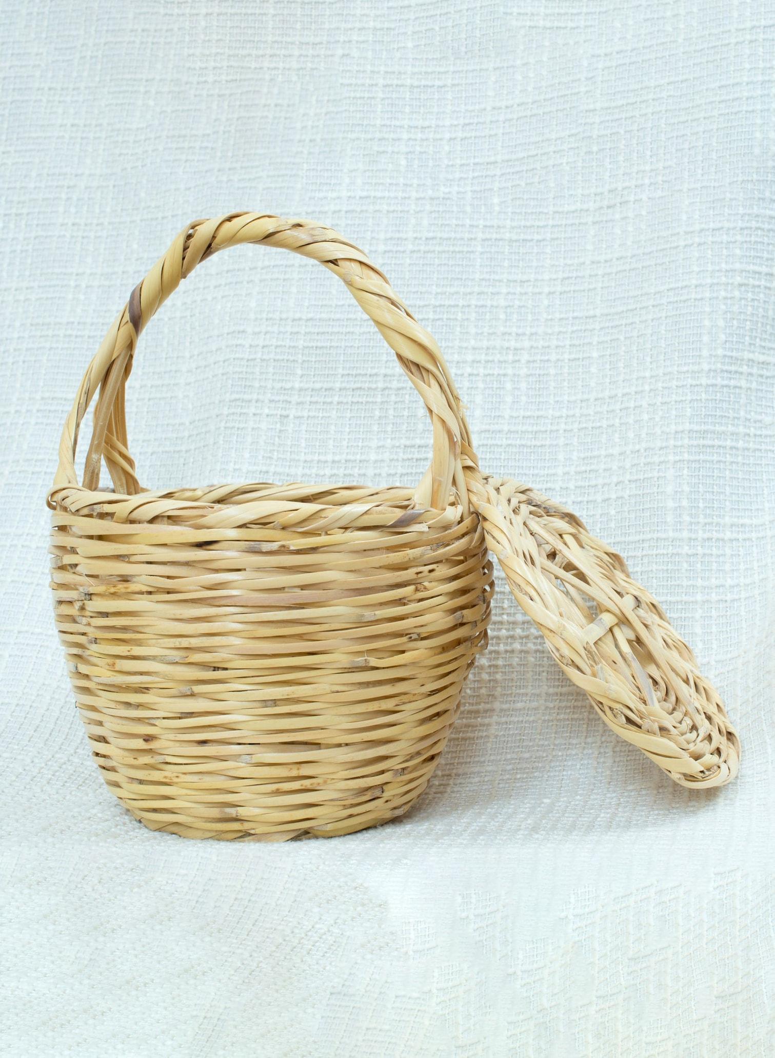 jane birkin small straw basket bag