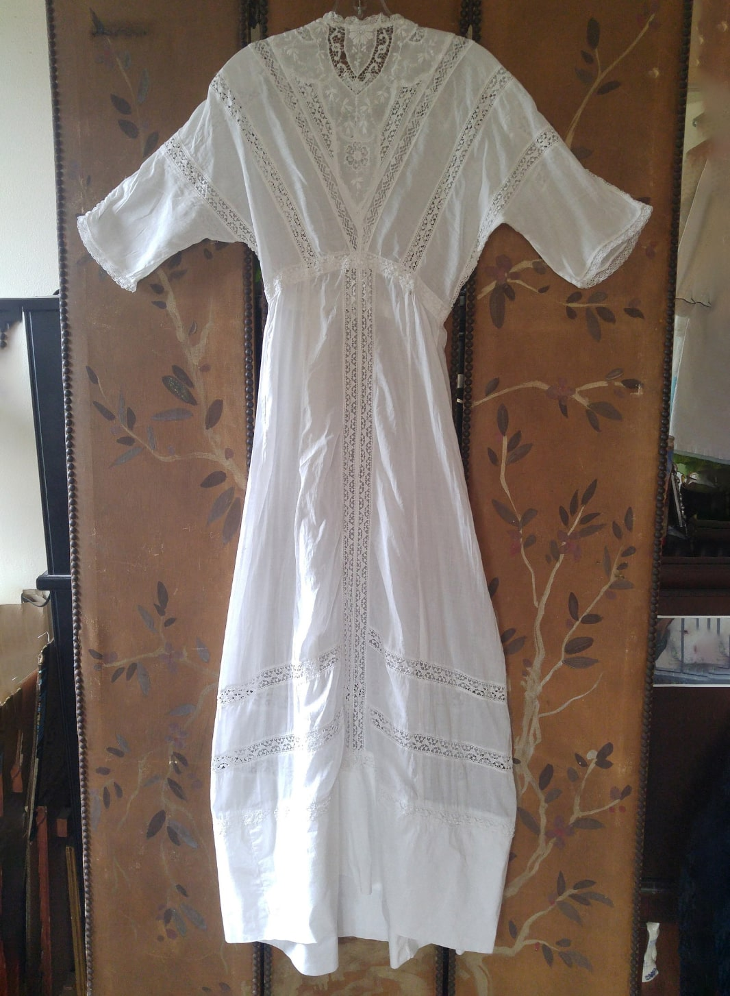 1920's white cotton maxi _ floor length lawn dress with _ Etsy