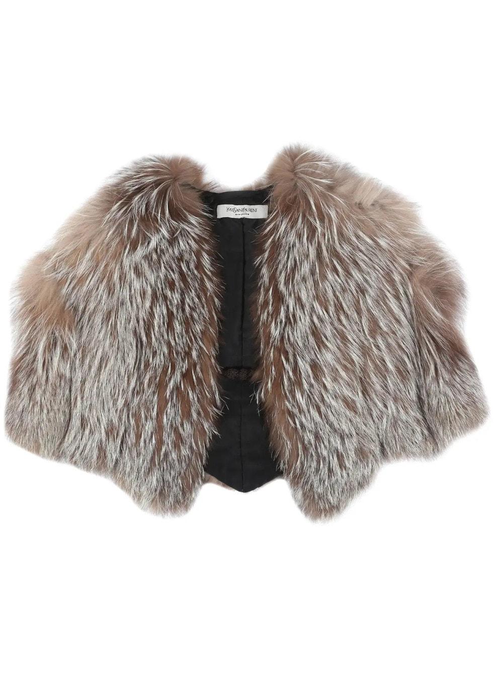 Alber Elbaz for Yves Saint Laurent Autumn-Winter 1999 fox fur capelet