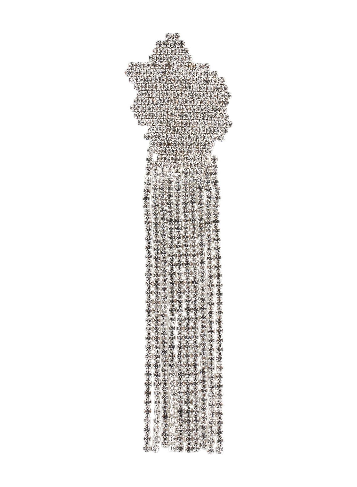 COLLINA STRADA Crystal Chain Fringe Pin