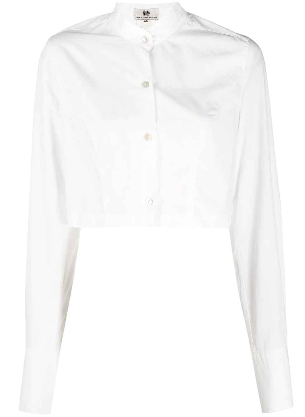 Dries Van Noten Pre-Owned 1990s Cropped button-up Shirt - Farfetch