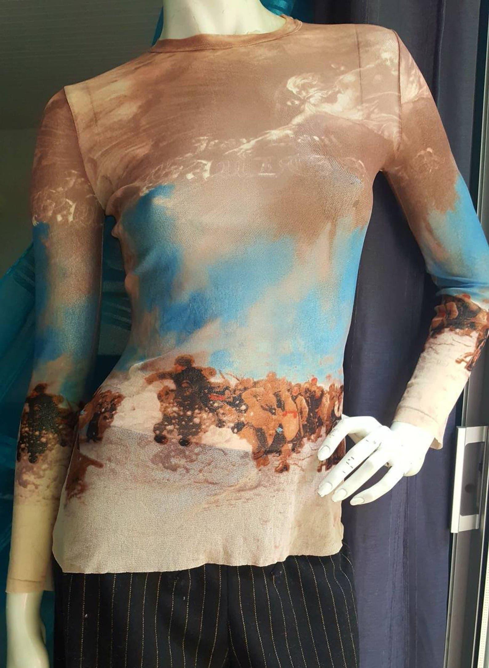 Jean Paul Gaultier jean Paul Gaultier top tattoo multicolor printed T-shirt S 36