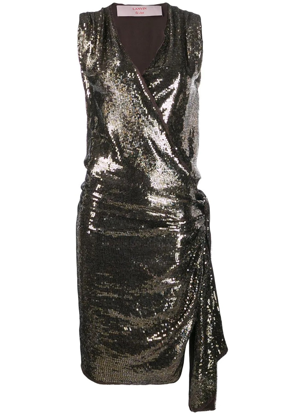 LANVIN Pre-Owned 2004's Sequin Envelope Dress - Farfetch