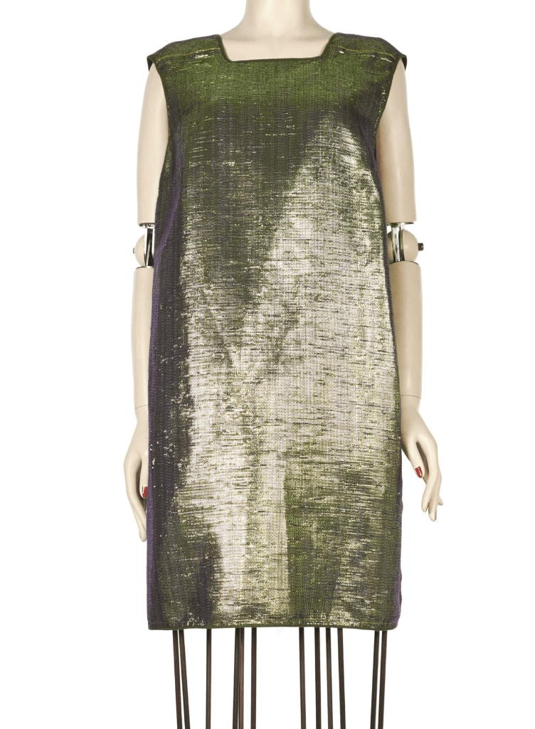 LANVIN Silk-tweed and lamé dress S_S 2014 - Shop the Story