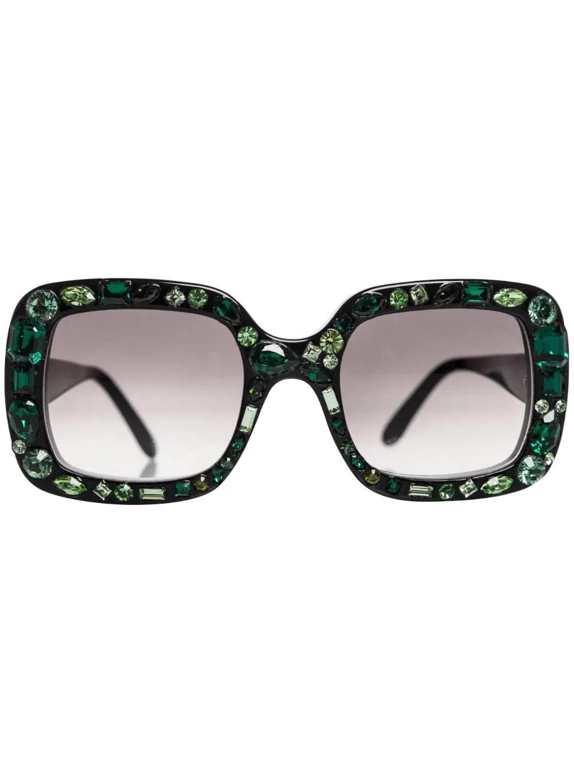 Lanvin Alber Elbaz Emerald Jeweled Sunglasses, 2009