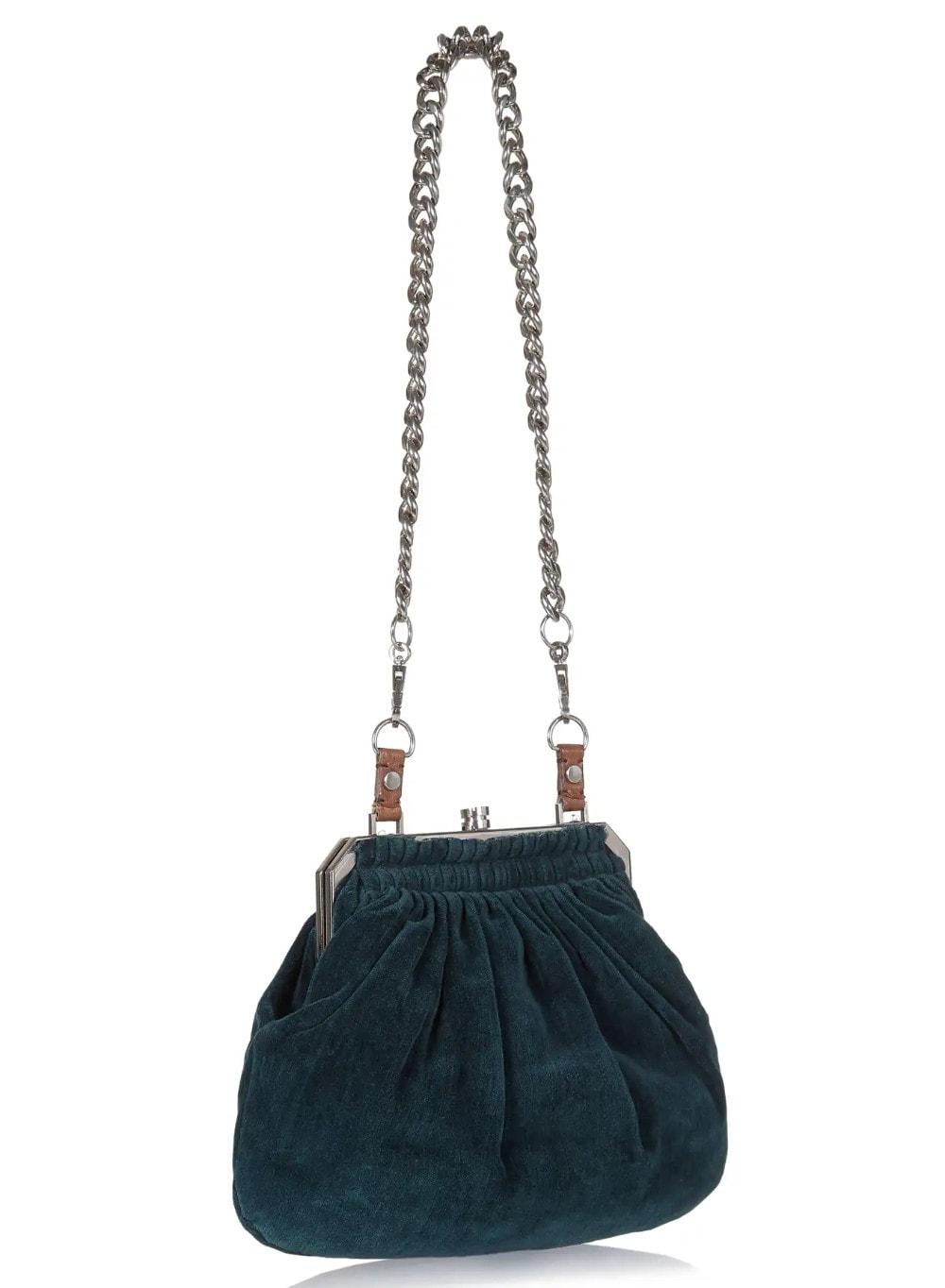Lanvin Paris Evening Bag _ Minaudière - 2000S Alber Elbaz Era Lanvin Velvet Josephine Shoulder Bag Art Deco Velvet
