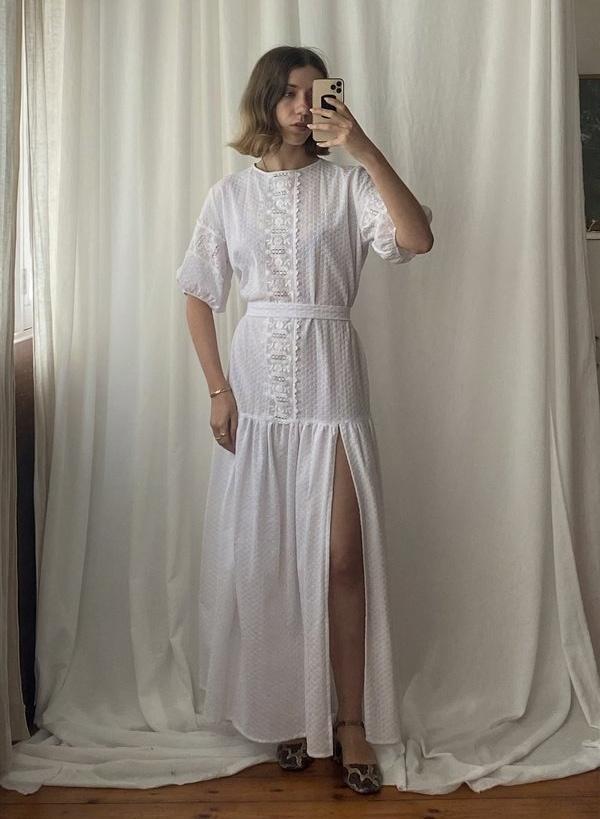 Pre-loved Sunshine Symbol Tani maxi dress - white on Garmentory