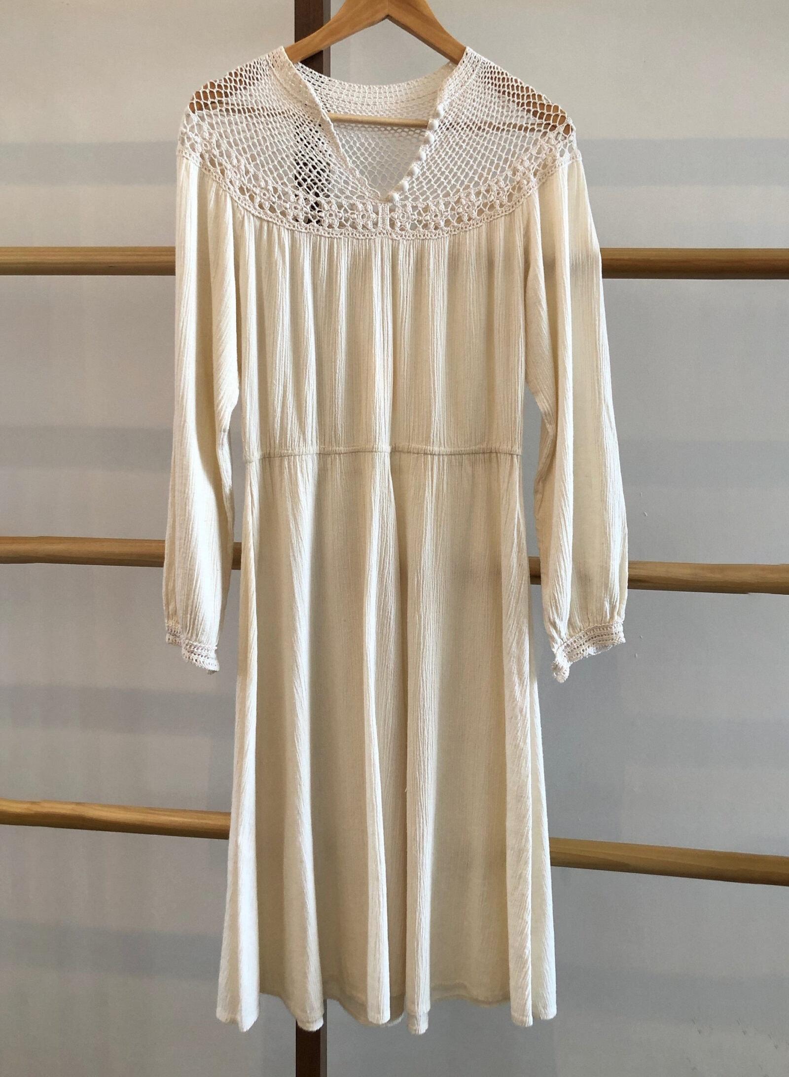 Vintage Cotton and Crochet Dress