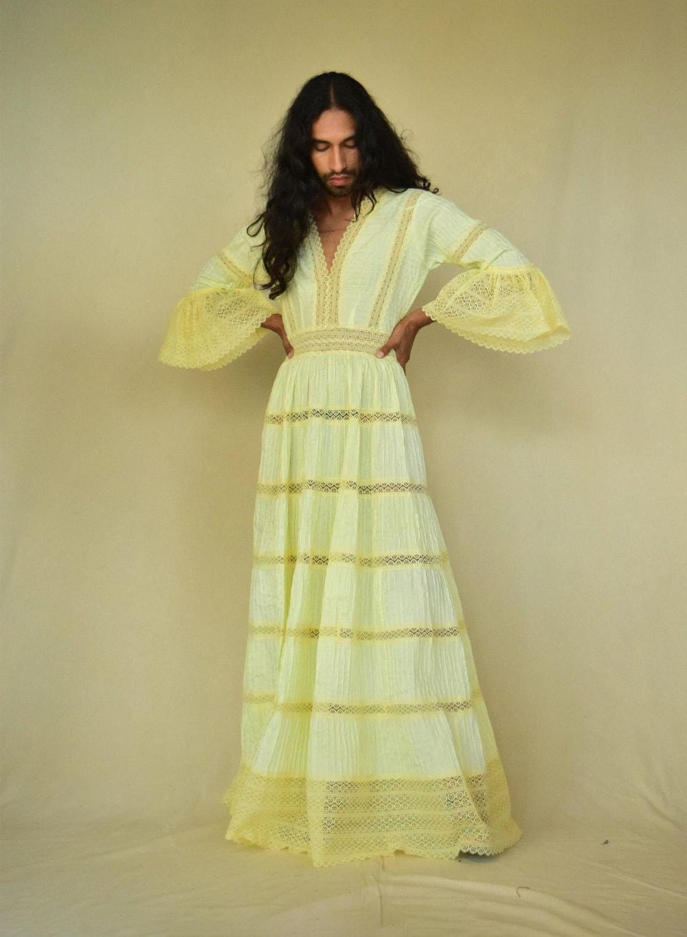 Vintage Dress_ Mexican Dress