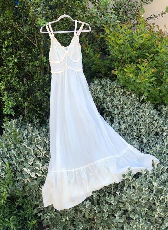 Vintage Goddess Gown dress - white