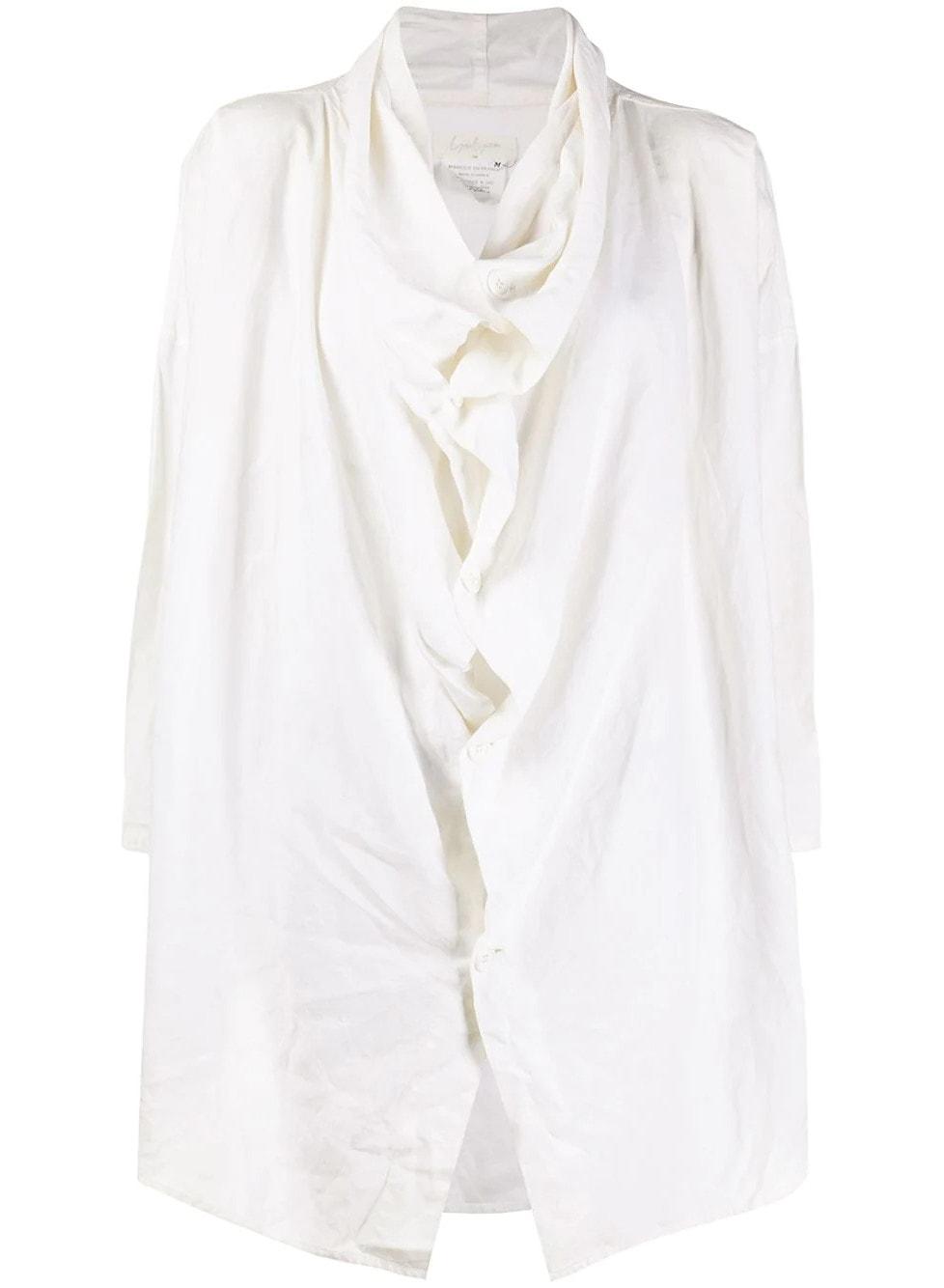 Yohji Yamamoto Pre-Owned Draped Front loose-fit Shirt - Farfetch