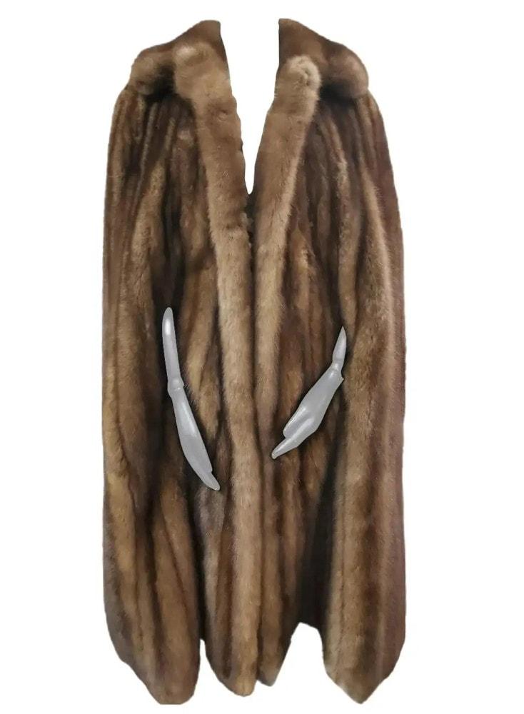 Yves saint laurent sable fur cape_coat size