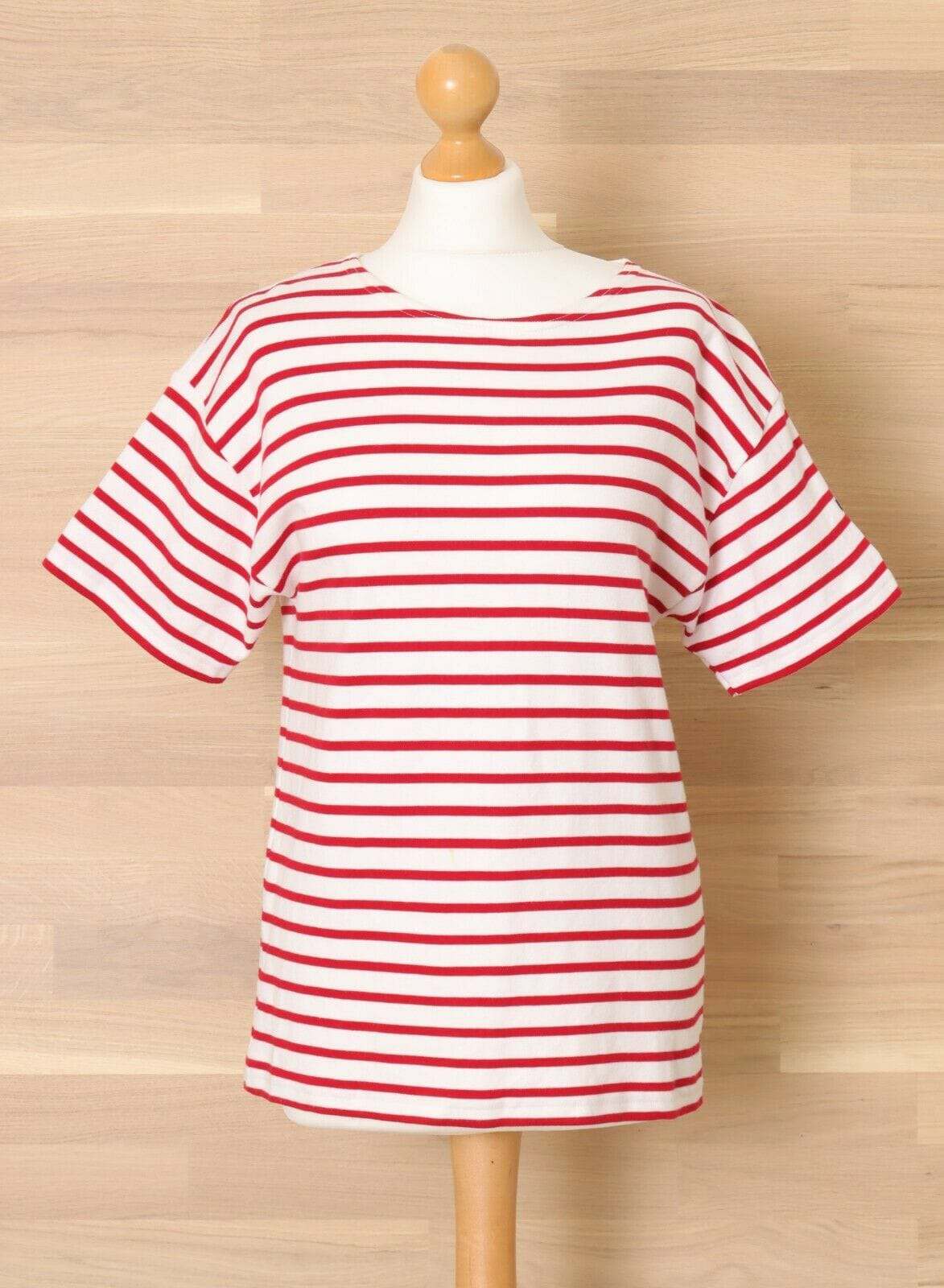 Armorlux Armor-Lux Size 2 S Thick Cotton Breton Short Sleeve Striped T Shirt