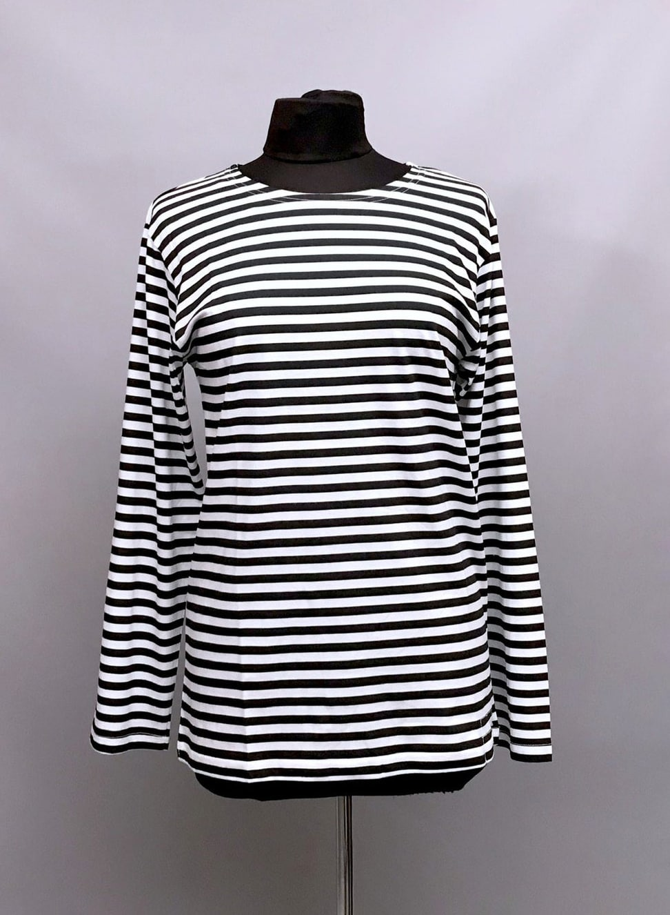 Black and White 100% cotton Breton Long Sleeve T-shirts - Unisex- Army Surplus - Russian Navy- cotton base layer