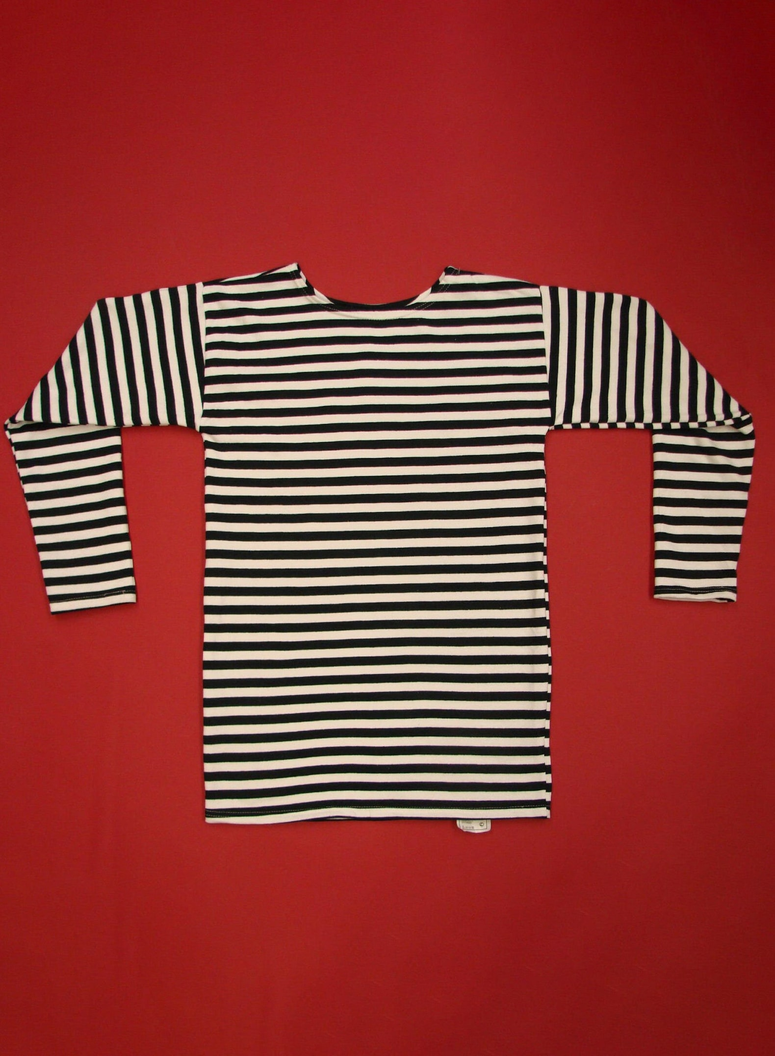 Russian Telnyashka Shirt Black Striped WINTER Type 100% Cotton + Factory Tag High Quality Brand New Unissued Condition Soviet Navy Sailor