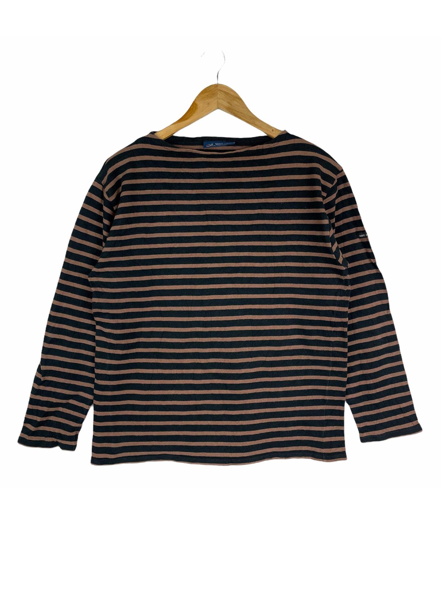 Vintage SAINT JAMES Stripes France Brand Designer Medium Size Knitwear