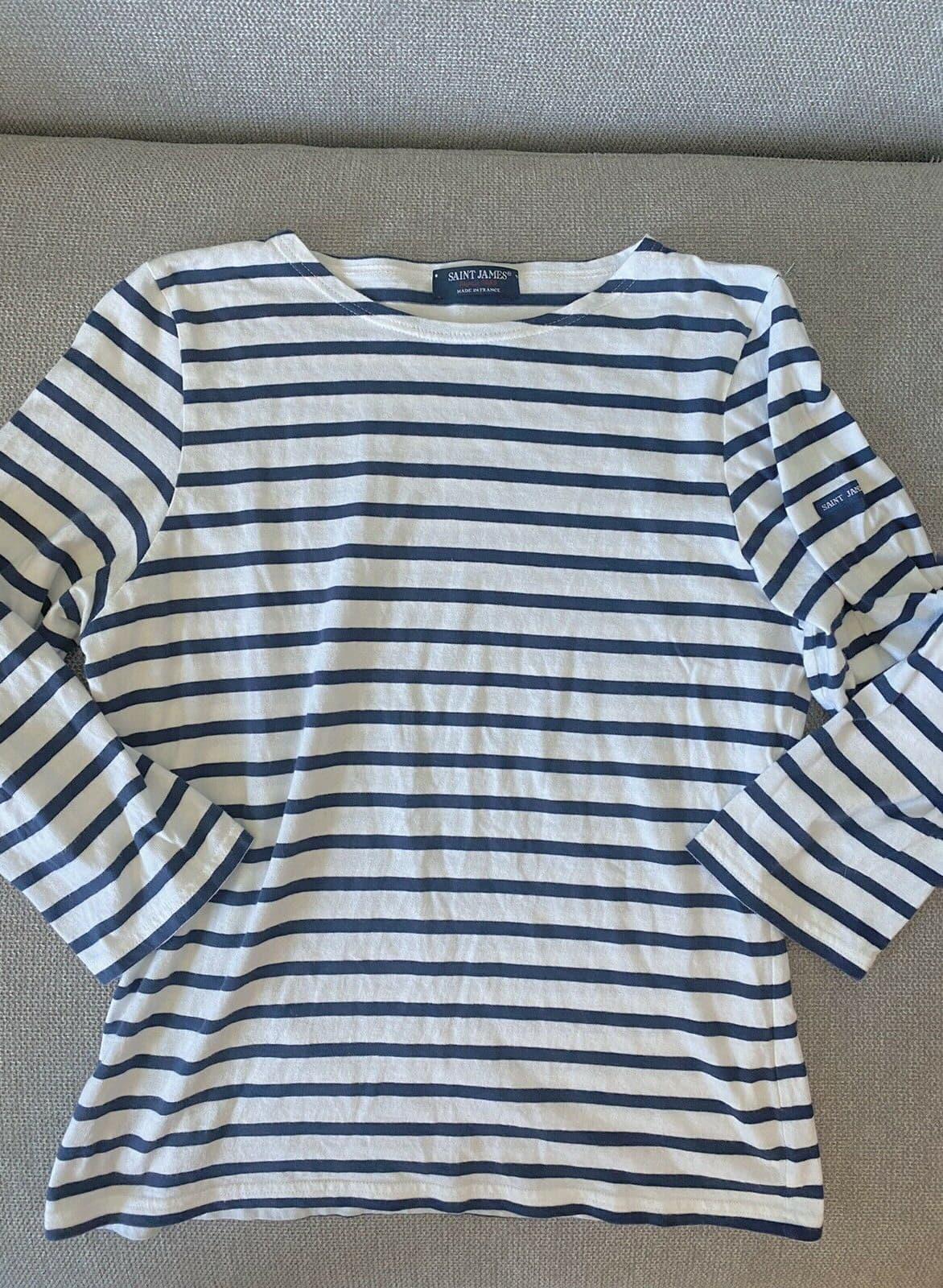 saint james stripe shirt top xs