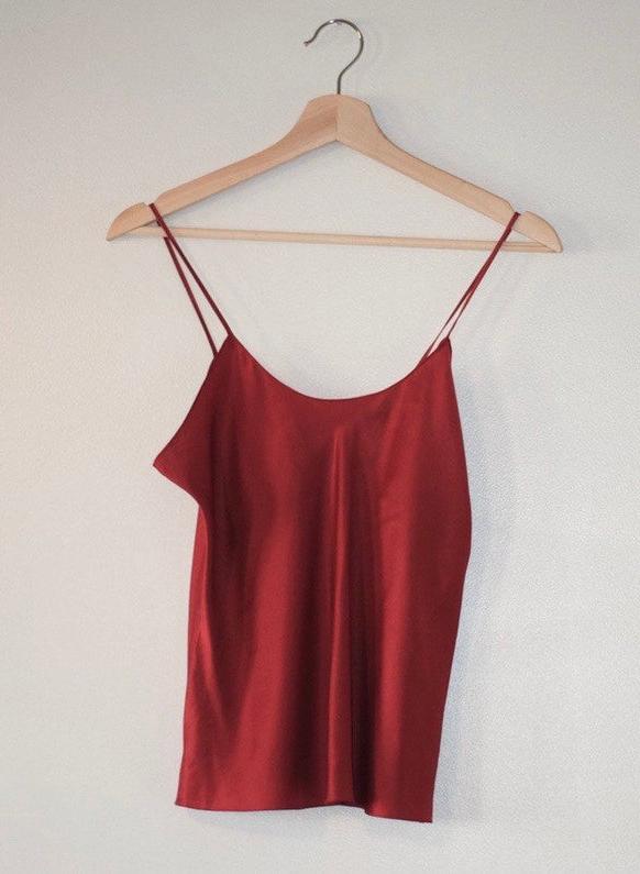 Cherry Silk Camisole