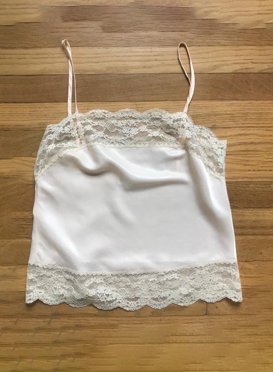 Vtg 70s Lace Camisole Women's Small Medium