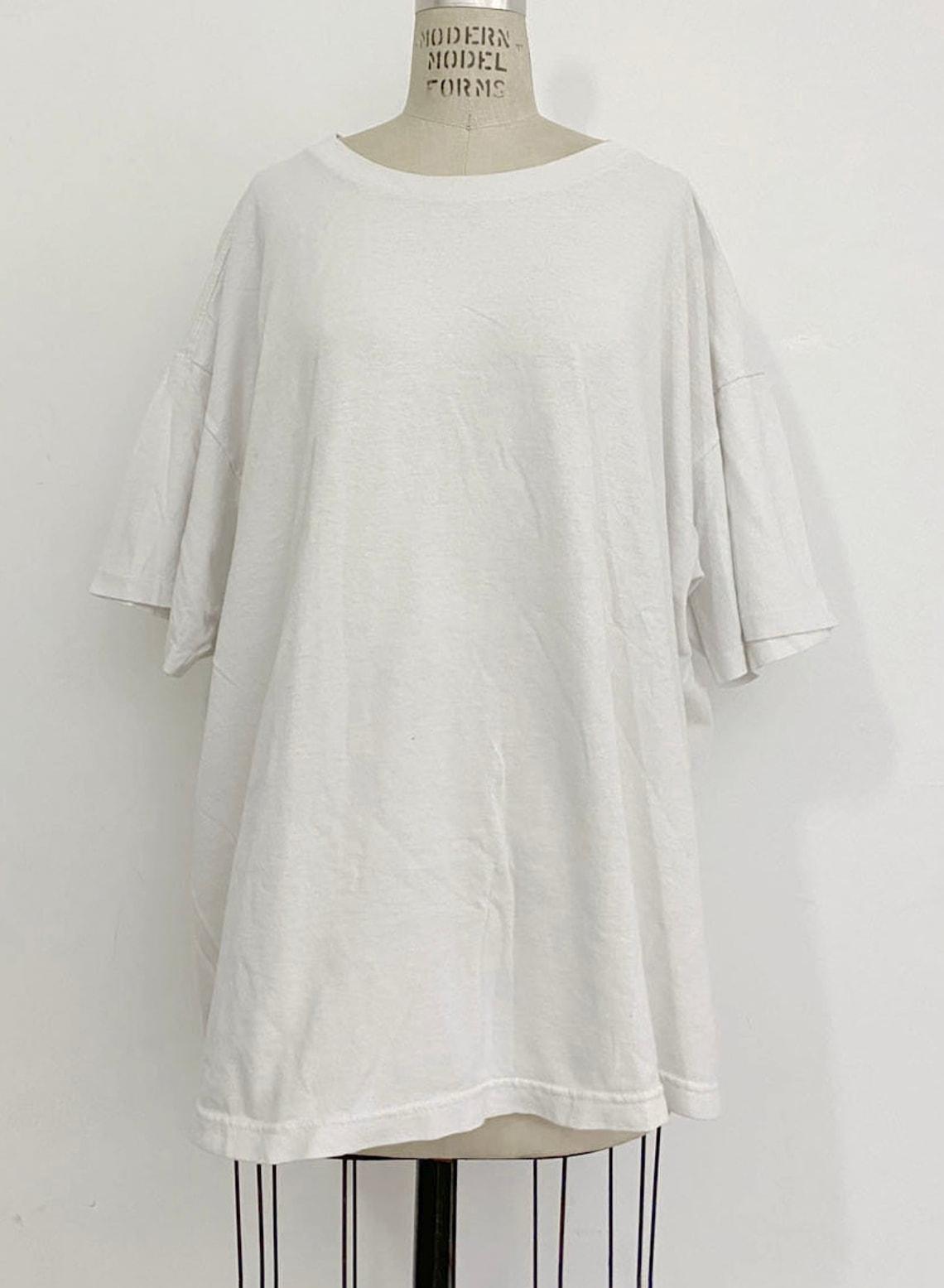 90s Vintage UMEN Blank White Wide T-shirt
