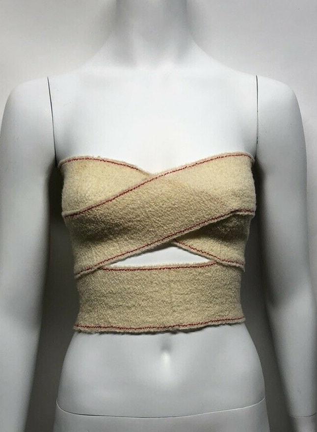 Rare Vtg Maison Martin Margiela Bandage Crop Top AW1994 XS