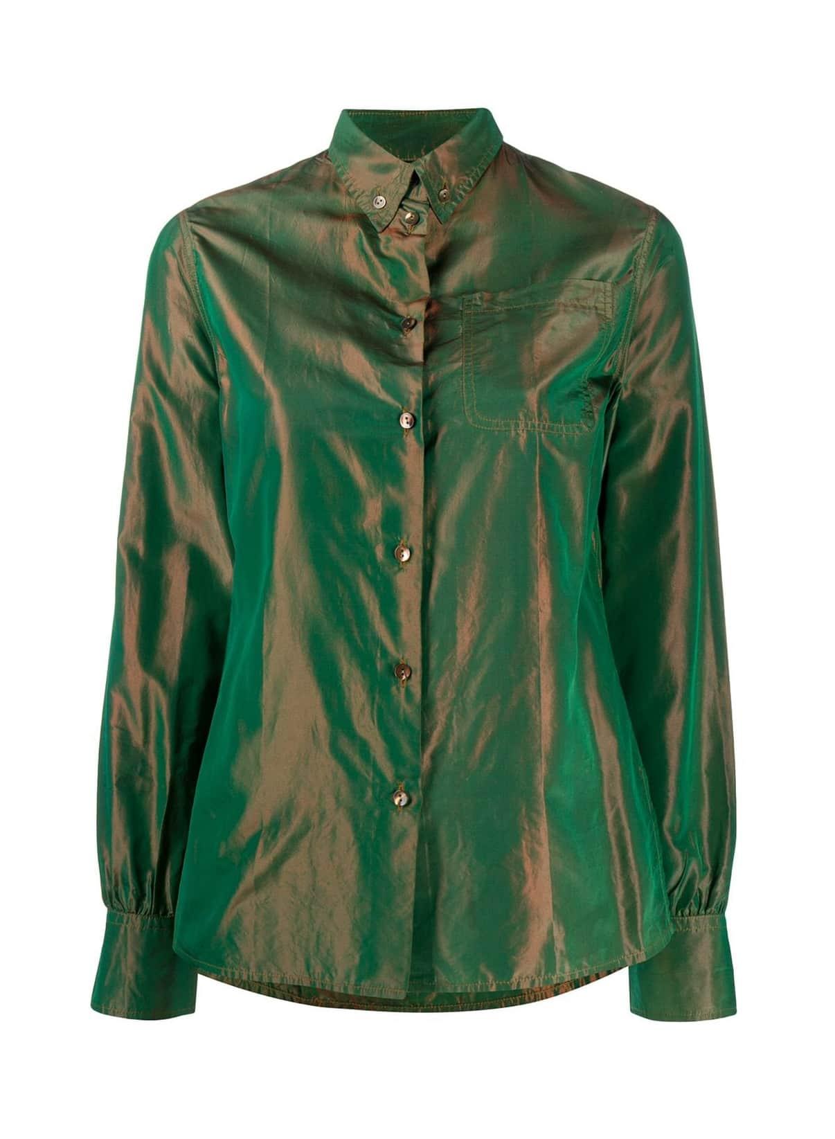 Jean Paul Gaultier Pre-Owned 1990s Iridescent Effect button-down Shirt - Farfetch