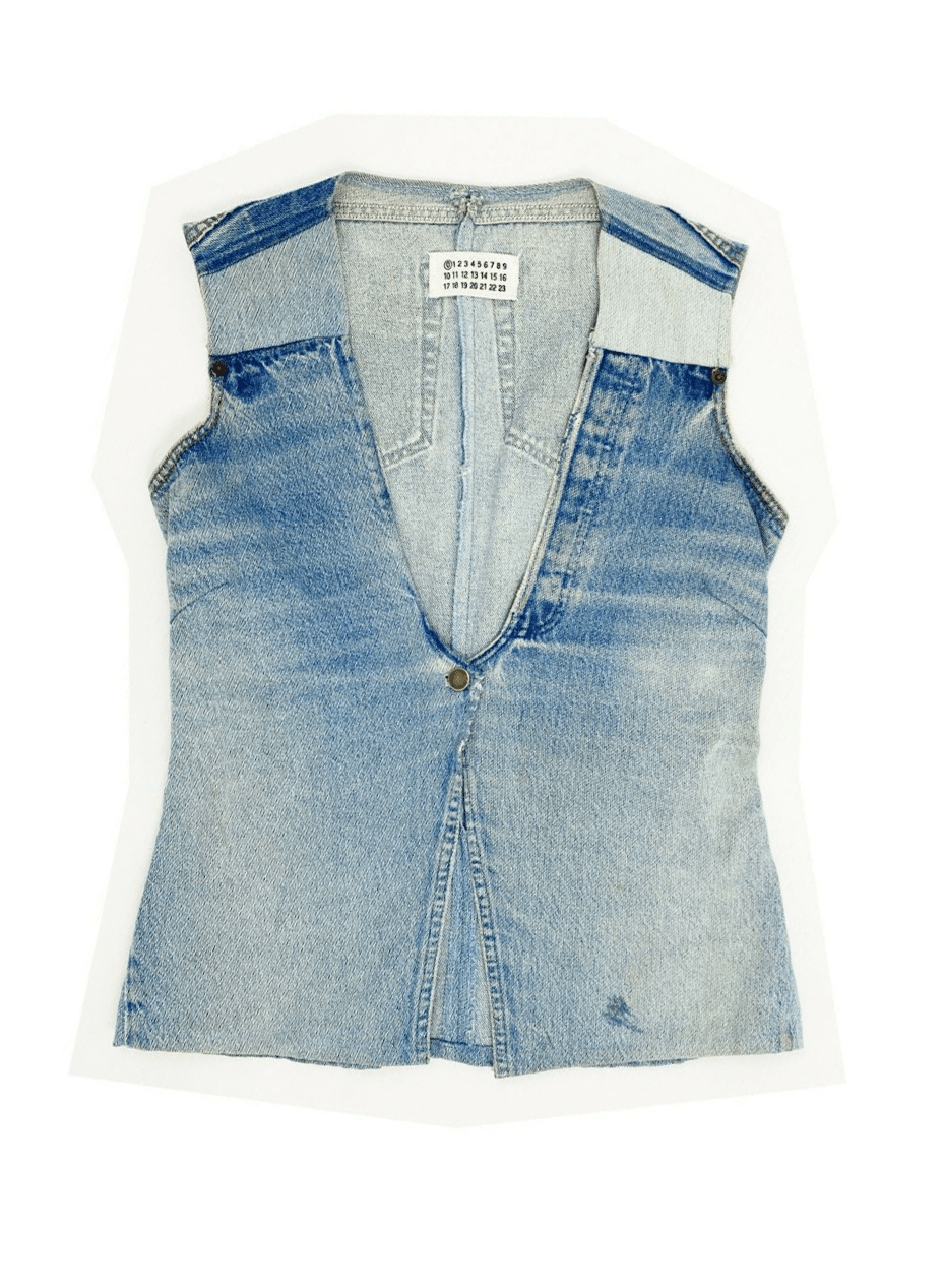MAISON MARTIN MARGIELA Artisanal Denim Vest SIZE LARGE Line 0 Jeans Rare Vintage _ eBay