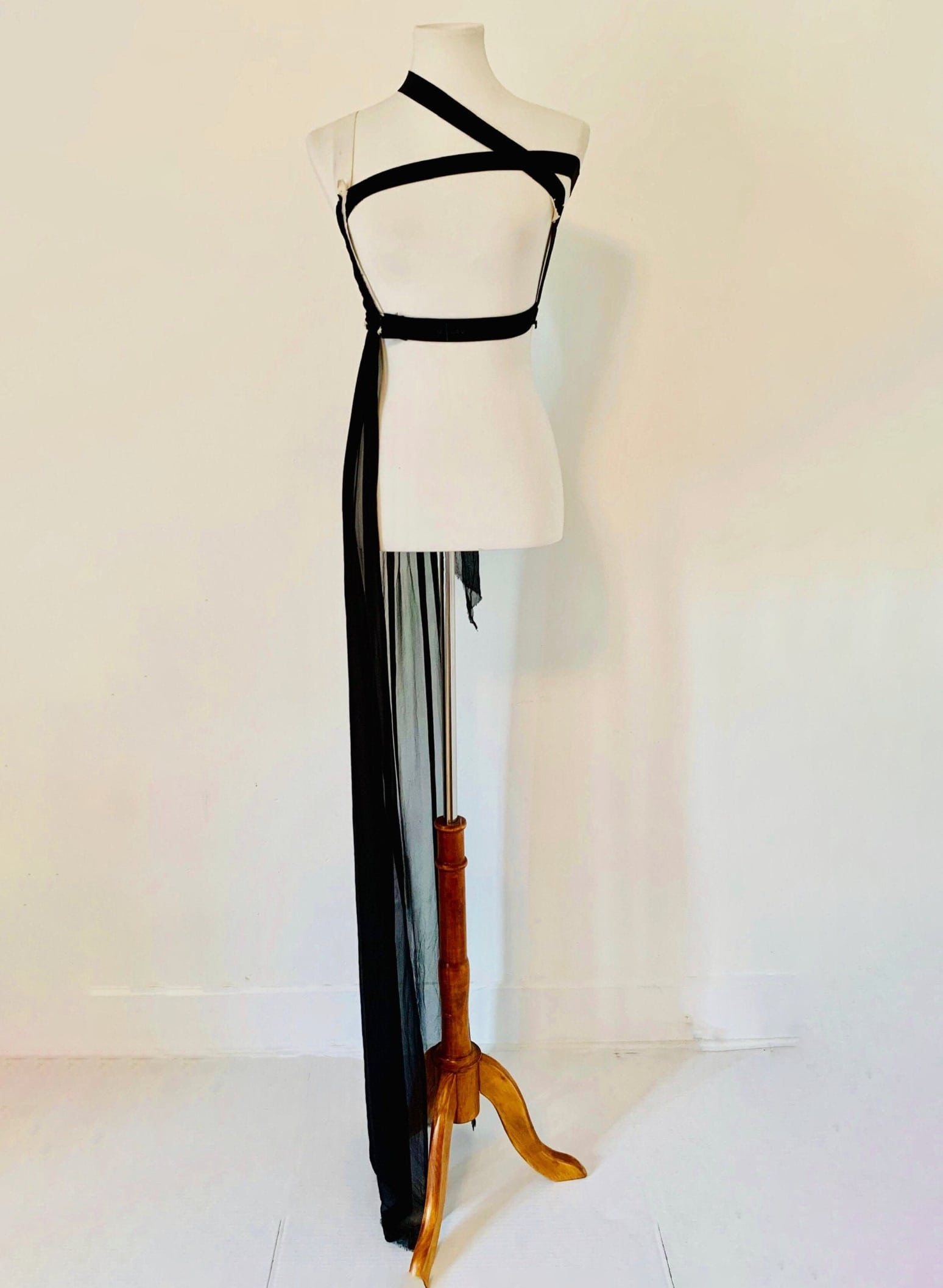 MAISON Martin MARGIELA harness dress bondage silk x rare _ Etsy