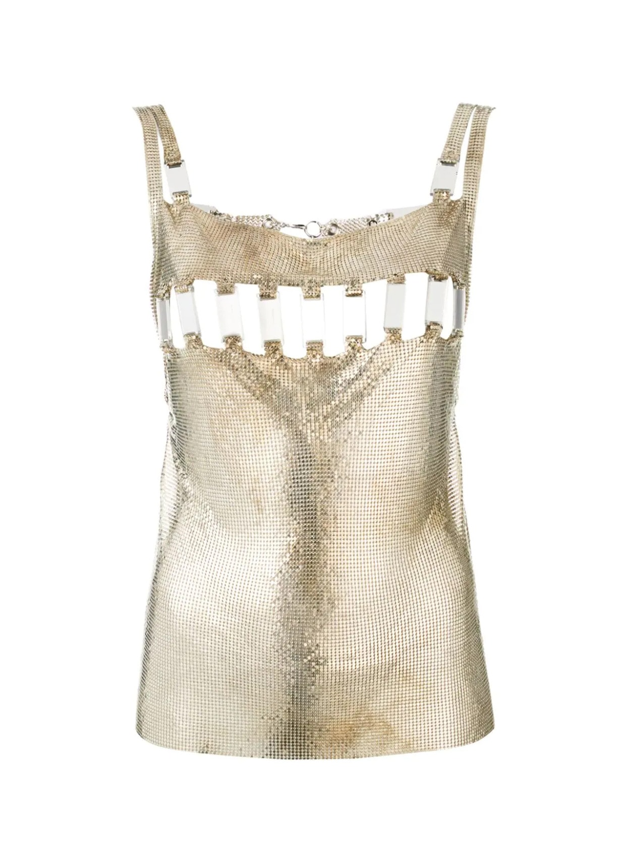 Paco Rabanne Pre-Owned 1990s Disco Mirror Blouse - Farfetch