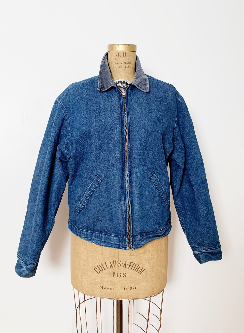 1990s : 90s Vintage Lined Denim Work Jacket : Jean Jacket : Extra Large