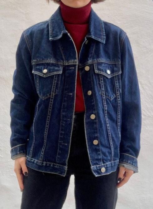1990s indigo blue GAP denim jacket M 8 10 12 14 _ Etsy