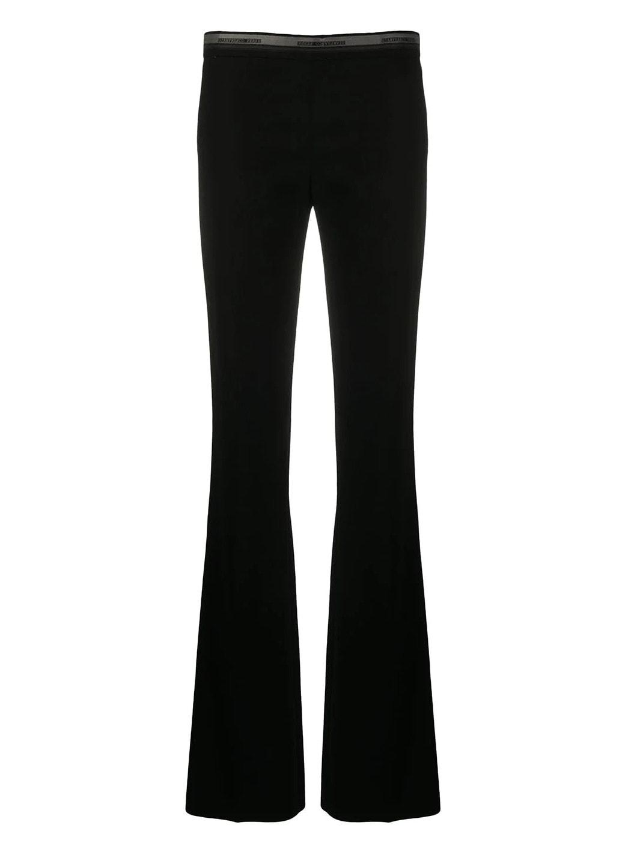 1990s logo waistband flared trousers